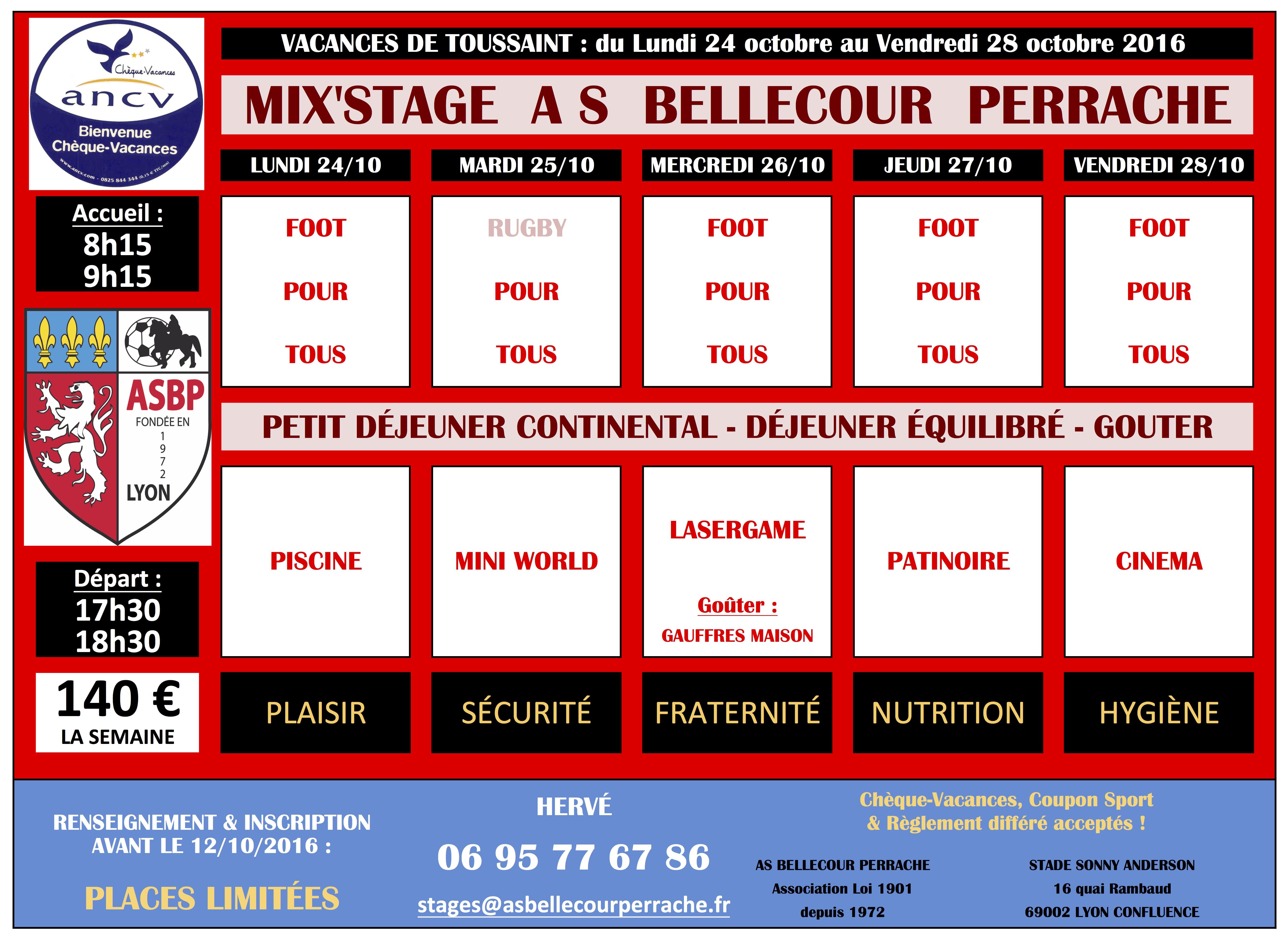 Asbp vie du club 2016 2017 mix 39 stage vacances de la toussaint 2016 - Vacances de la toussaint 2016 ...