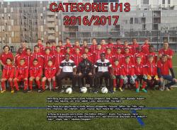 CONVOCATIONS U13 DU SAMEDI 25/03/2017