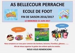 FIN DE SAISON POUR NOTRE ECOLE DE FOOT: MERCREDI 21 JUIN 2017