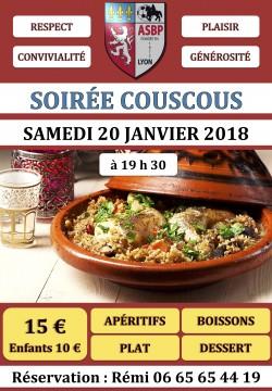 SOIRÉE COUSCOUS - SAMEDI 20 JANVIER 2018
