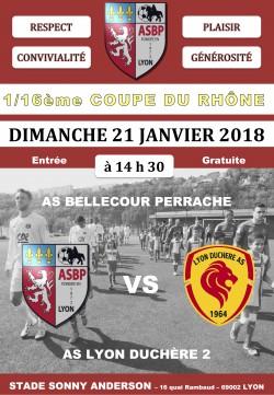 Dimanche 21/01/2018 : ASBP / LYON DUCHÈRE 2