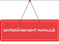 SÉANCES D'ENTRAÎNEMENT U11 ET U13 DU LUNDI 21 MAI 2018 ANNULEES