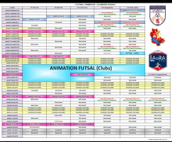 CALENDRIER DU FOOTBALL D'ANIMATION U7 À U13 SAISON 2018 /2019