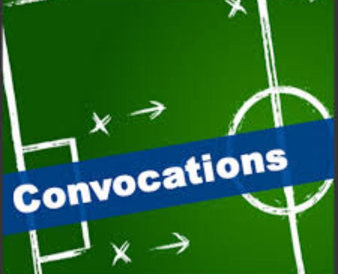 CONVOCATIONS U17 DU SAMEDI 20 OCTOBRE 2018