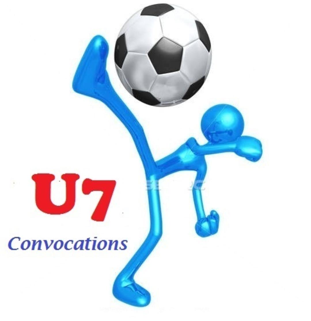 Convocations U7 du samedi 13 octobre 2018