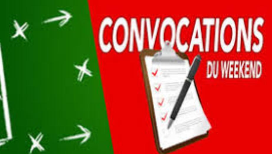 CONVOCATIONS U13 DU SAMEDI 11 MAI 2019