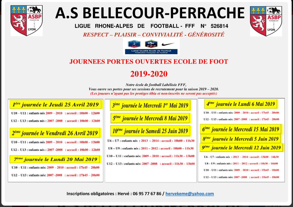 RECRUTEMENT ECOLE DE FOOT 2019-2020