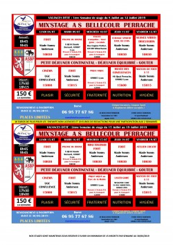 MIX'STAGES ETE 2019 (DU 08/07 AU 12/07 et DU 15/07 au 19/07/2019)