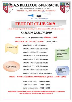 Fête du club 2019