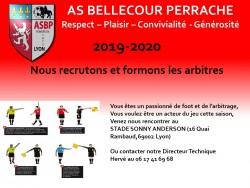 RECRUTEMENT ET FORMATION DES ARBITRES 2019-2020
