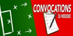 CONVOCATIONS U13 DU SAMEDI 19 OCTOBRE  2019