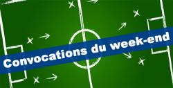 CONVOCATIONS U17 DU DIMANCHE 1 DECEMBRE 2019