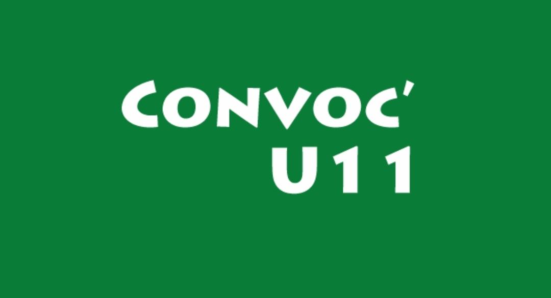 CONVOCATION U10 ET U11F Du MERCREDI 02 JUIN 2021
