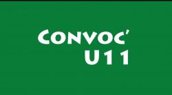 CONVOCATION U11 SAMEDI 25 SEPTEMBRE 2021