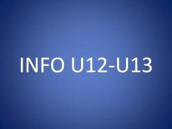 CONVOCATIONS U12/U13 DU SAMEDI 18 SEPTEMBRE 2021