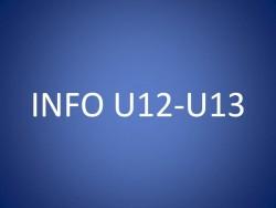 CONVOCATIONS U12/U13 DU SAMEDI 23 OCTOBRE 2021
