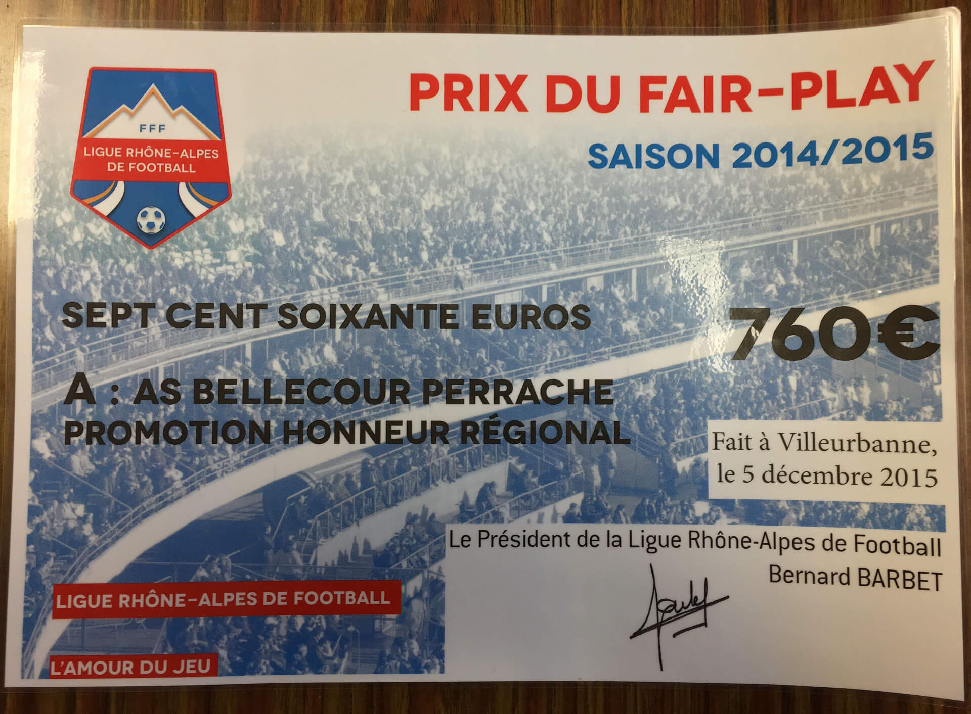 Prix du fair-play